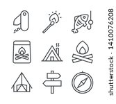 set of icons with accessories... | Shutterstock .eps vector #1410076208
