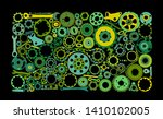 auto spare parts and gears ...   Shutterstock .eps vector #1410102005