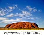Uluru Ayers Rock With Wispy...