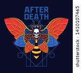 scare moth vector illustration... | Shutterstock .eps vector #1410107465