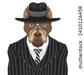 dog breed pit bull terrier in... | Shutterstock .eps vector #1410126458