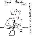 Businessman Drinking Coffee....