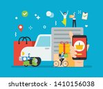delivery cargo using a courier  ... | Shutterstock .eps vector #1410156038