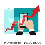 business analytics and modern ... | Shutterstock .eps vector #1410218708