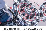 abstract futuristic three... | Shutterstock . vector #1410225878