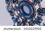 abstract futuristic three... | Shutterstock . vector #1410225902