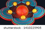 abstract futuristic three... | Shutterstock . vector #1410225905