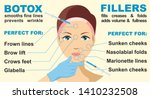 botox and fillers. infographics.... | Shutterstock .eps vector #1410232508