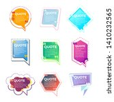 quote banner template vector... | Shutterstock .eps vector #1410232565