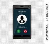 mobile phone screen call... | Shutterstock .eps vector #1410234515