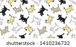 cat seamless pattern vector... | Shutterstock .eps vector #1410236732