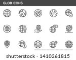 globe vector line icons set.... | Shutterstock .eps vector #1410261815