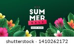 summer sale background with... | Shutterstock .eps vector #1410262172
