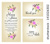 wedding invitation  thank you... | Shutterstock .eps vector #141026302