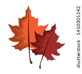 autumn leaves symbol cartoon... | Shutterstock .eps vector #1410301142