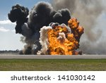Fiery Explosion With Thick...