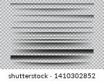 set of  vector transparent... | Shutterstock .eps vector #1410302852