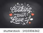cooking with love. kitchen...   Shutterstock .eps vector #1410306362