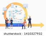 scrum team working on tasks.... | Shutterstock .eps vector #1410327932