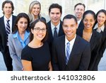 portrait of business team... | Shutterstock . vector #141032806
