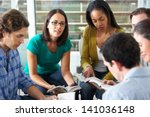 bible group reading together | Shutterstock . vector #141036148