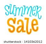 summer sale lettering. vector...   Shutterstock .eps vector #1410362012