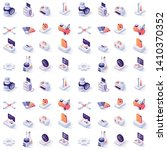 seamless pattern with car... | Shutterstock .eps vector #1410370352
