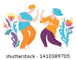 spontaneous dancing people.... | Shutterstock .eps vector #1410389705