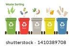 waste sorting motivational... | Shutterstock .eps vector #1410389708