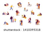 set with senior people and... | Shutterstock .eps vector #1410395318