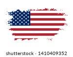 american flag. grunge old flag... | Shutterstock .eps vector #1410409352