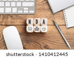 """cubes with acronym nda for """"non ... 
