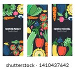 vegetables hand drawn banner... | Shutterstock .eps vector #1410437642