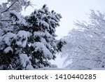 winter landscape with trees... | Shutterstock . vector #1410440285