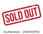 Sold Out Rubber Stamp. Red Sold ...