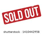 sold out rubber stamp. red sold ... | Shutterstock .eps vector #1410442958