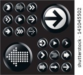 arrow icon set. vector.   Shutterstock .eps vector #141045502