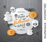 happy halloween sale vector... | Shutterstock .eps vector #1410467282