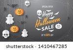 happy halloween sale vector... | Shutterstock .eps vector #1410467285