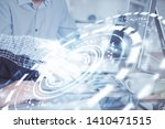 double exposure of technology... | Shutterstock . vector #1410471515