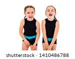 portrait of identical twin... | Shutterstock . vector #1410486788