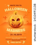 halloween night background with ...   Shutterstock .eps vector #1410491138