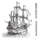 galleon was powered entirely by ...   Shutterstock .eps vector #1410491888