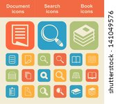 document icon set | Shutterstock .eps vector #141049576