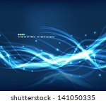 abstract glowing lines | Shutterstock .eps vector #141050335