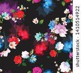 seamless floral pattern. birds  ... | Shutterstock .eps vector #1410514922
