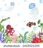 watercolor illustration of...   Shutterstock . vector #1410521255