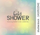 baby shower invitation template ... | Shutterstock .eps vector #1410522542