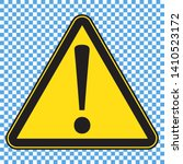 danger sign  yellow danger icon ... | Shutterstock .eps vector #1410523172