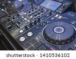 player and mixing console... | Shutterstock . vector #1410536102